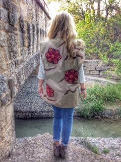 Flower Power Vintage Camo Vest
