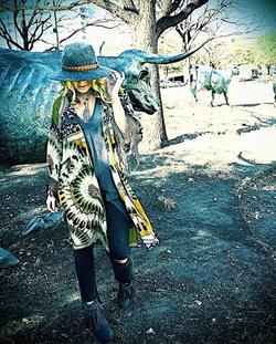 Cousin Earl Feather Kimono