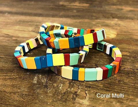 Enamel Multi Tile Bracelet