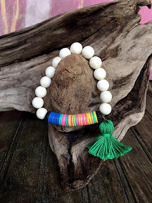 White African Tassel Bracelet