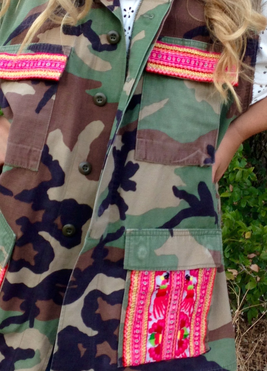 Pink Fiesta Vintage Camo Vest