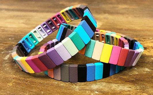Multi BoHo Tile Bracelet