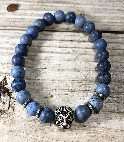 Men's Communication Denim Sodalite Bracelet