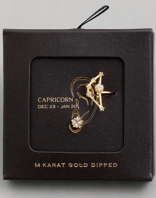 Capricorn Zodiac Ear Cuff and Stud Set
