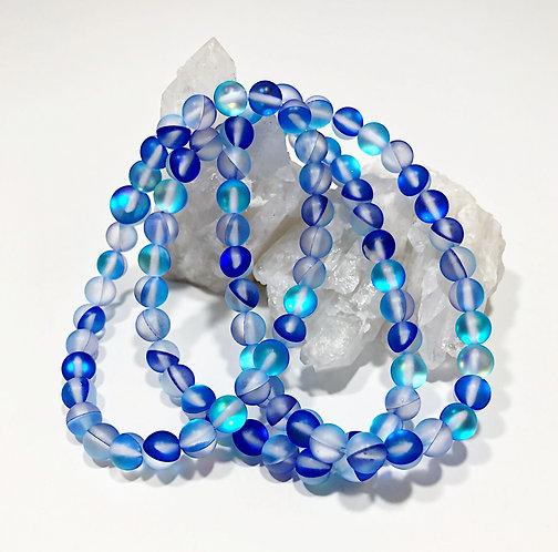 Blue Aura Moonstone Bracelet