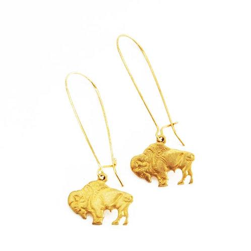 Bison Charm Earrings