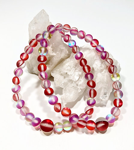 Red Aura Moonstone Bracelets