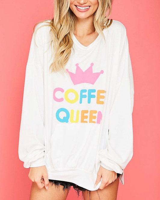 """""""Coffee Queen"""" Oversized Sweatshirt"""