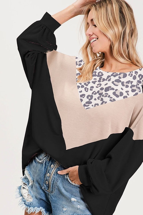 Color Block French Terry Sweatshirt