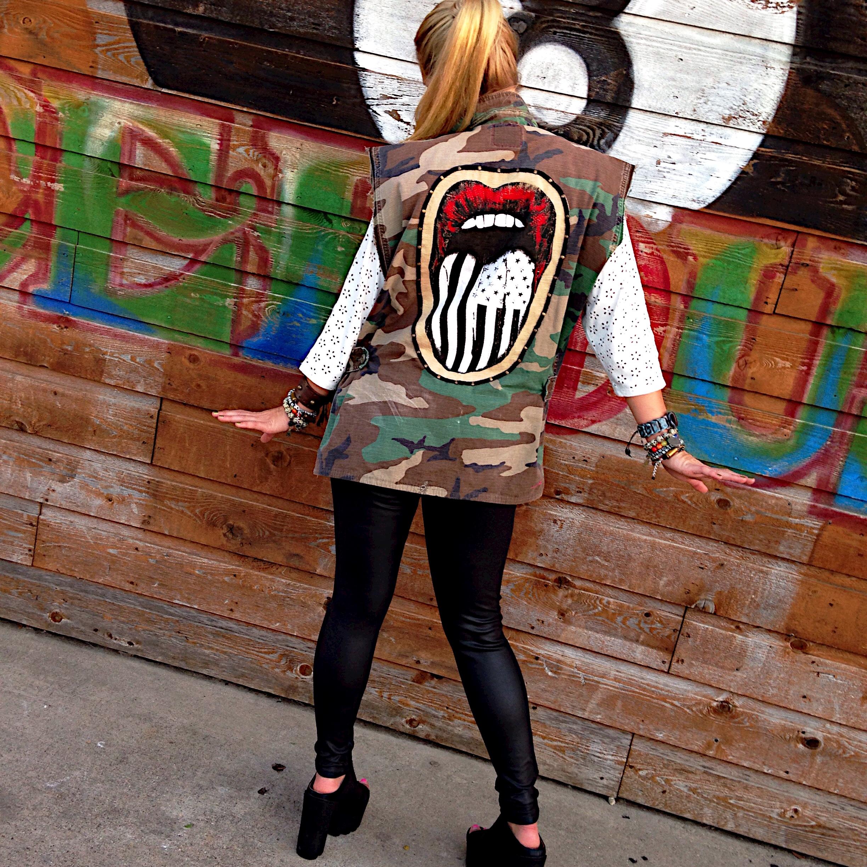 Uptown Rocker Camo Vest