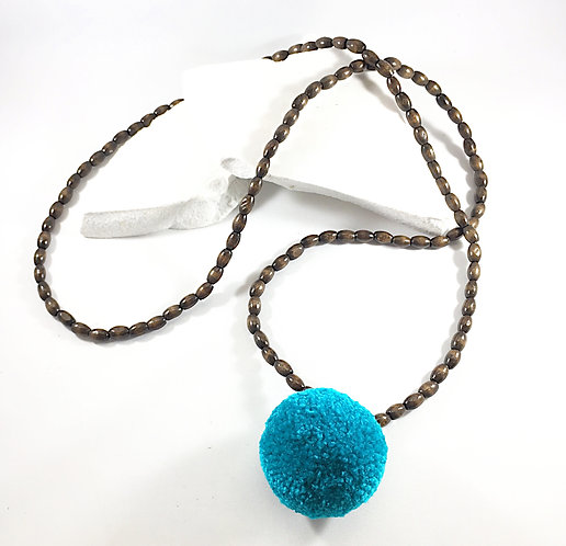 Big Pom Boxwood Necklace