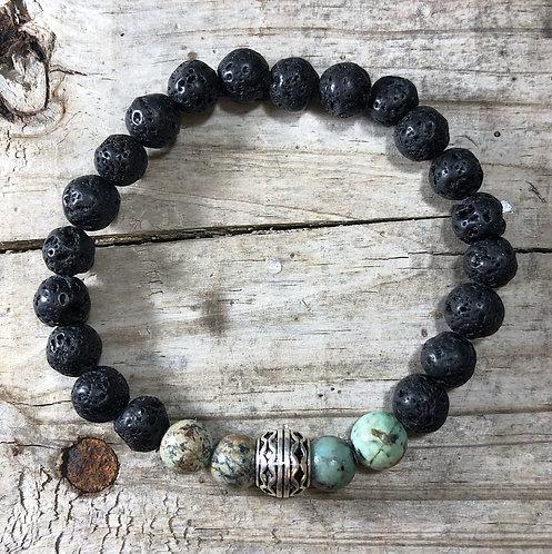 Men's Perseverance Tree Agate Bracelet