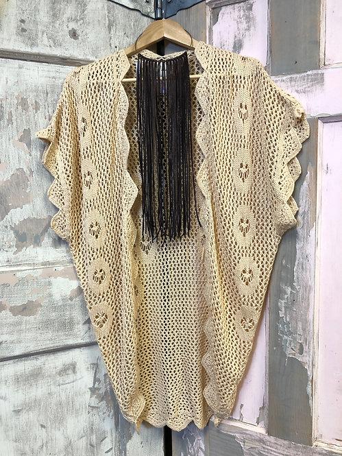 Crocheted Scalloped Kimono