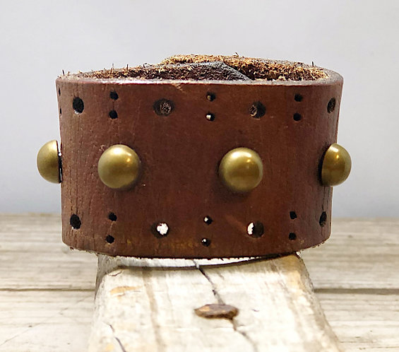 Brass Stud Cuff