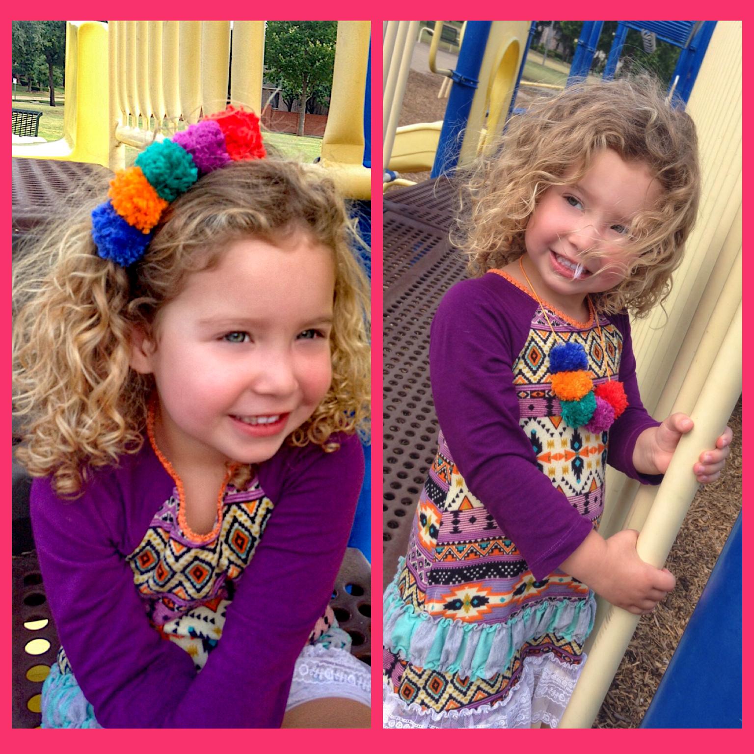 Lil Boho Flower Child Headband/Necklace