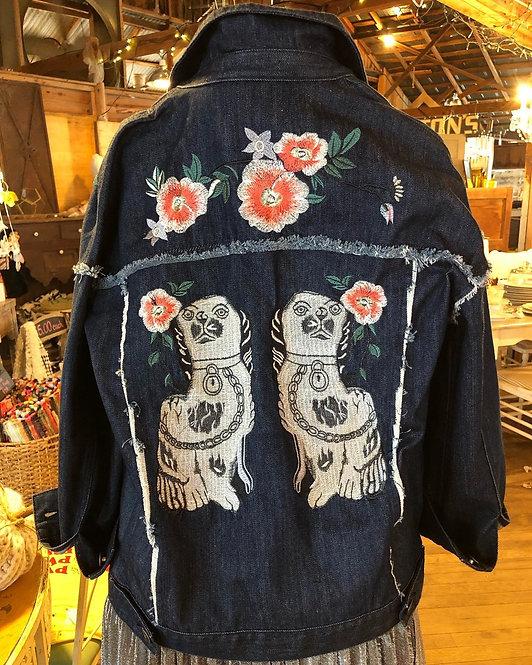 Staffordshire King Charles Distressed Denim Jacket