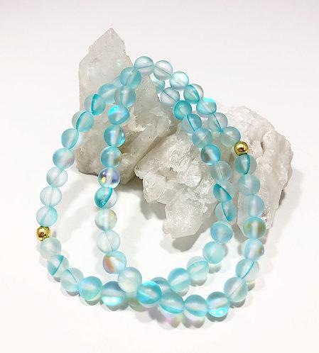 Aqua Rainbow Moonstone Bracelet