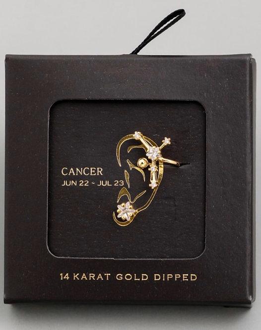 Cancer Zodiac Ear Cuff and Stud Set