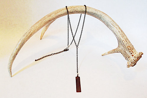 Bronze Tag Necklace