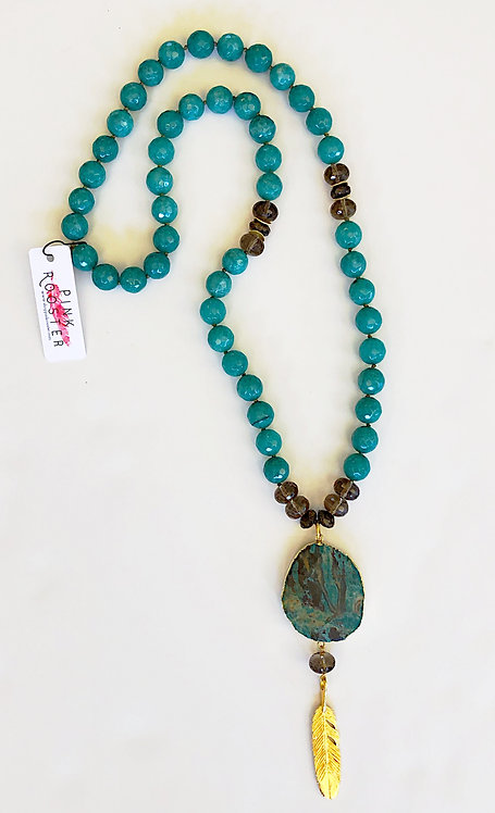 Jade and Turquoise Pendant Necklace