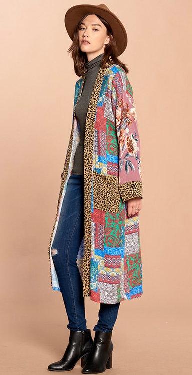 Patchwork Long Kimono