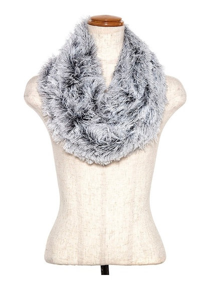 Frosted Fur Infinity Scarf