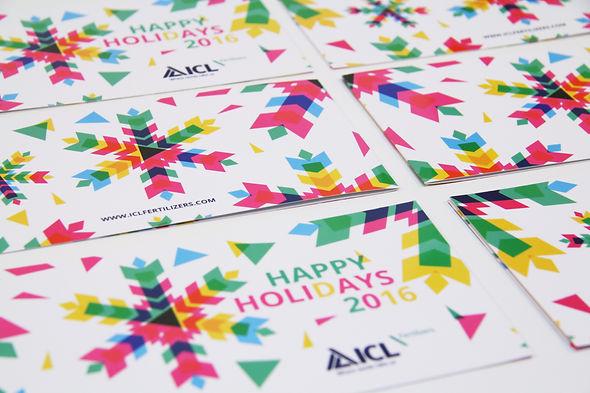 Geometric Holidays card 2016