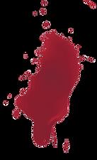Blood splatter, a part of logotype