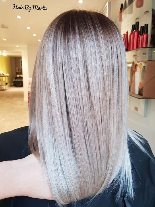 ash blonde Hair By Marta