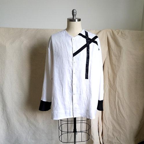 Web Ribbon Linen Shirt