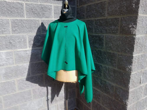 Asymmetric Turtleneck Poncho