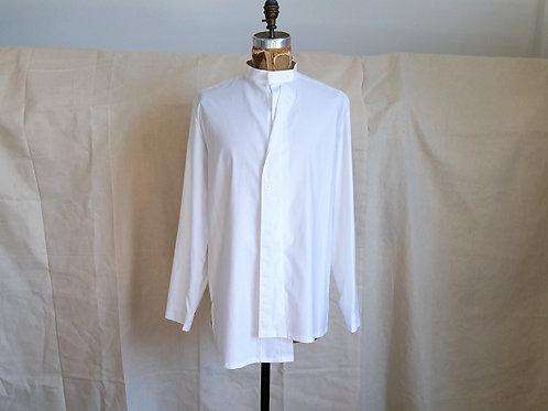 Ban Collar Shirt w/Double Front Closure