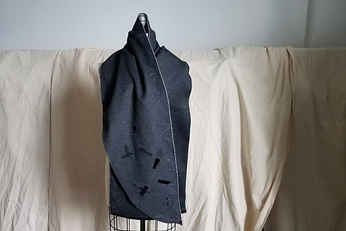 Grey Coat Scarf w/Abzag Stitch