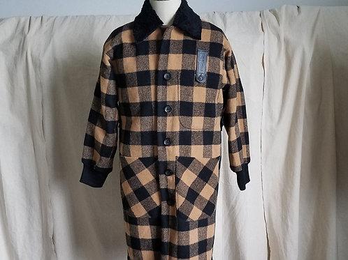 Buffalo Check Coat w/Faux Shearling Collar
