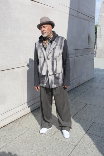 Mohair + Cashmere Wool Jacket w/Vested front