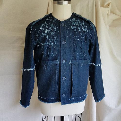 Clipped Denim Jacket