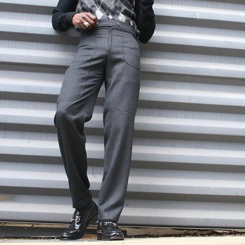 Multi-Pocket Flat Front Pants