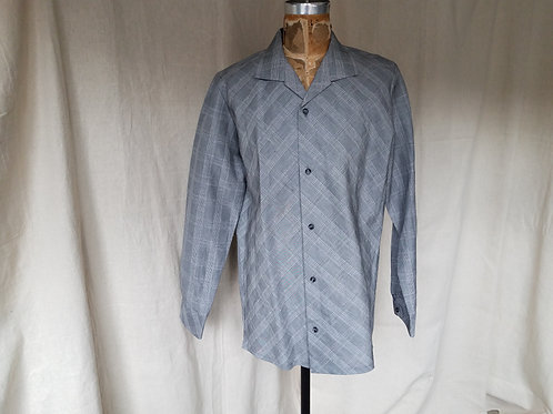 Glenn Plaid Linen Spread Collar Shirt