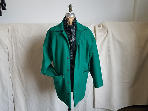 Trapunto Stitched Spread Collar Jacket