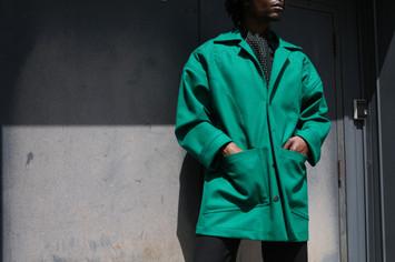 Trapunto Stitched Coat