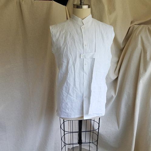 Floating Panel Sleeveless Shirt-Linen