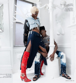 XEX Magazine: Indego Fashion Editorial-SKM Bleached Tie-Dye Jeans
