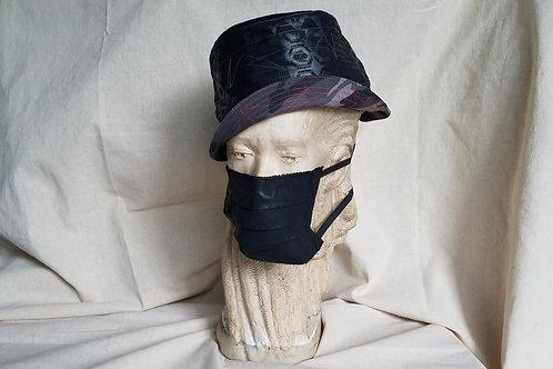 Reversible Bucket Hat-Gray Camo/Black on Black Print