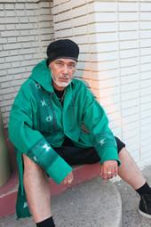 It Green Mudcloth Coat