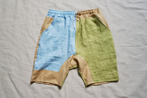 Dropcrotch Shorts-Pastel + Corn