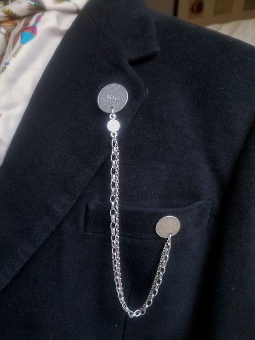 African Coins Lapel Pin