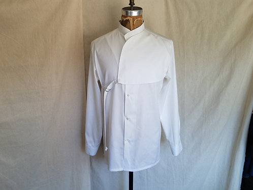 Ban Collar Shirt w/Strap Panel