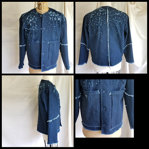 Dirty Destoryed Denim Jacket