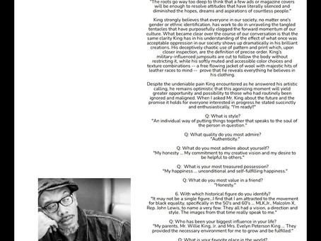 SKM In STINGRAY Magazine - BLACK DESIGNERS MATTER