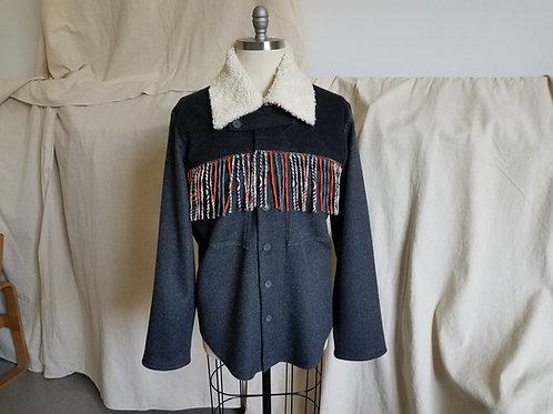 Faux Shearling Collar Shirt Jacket